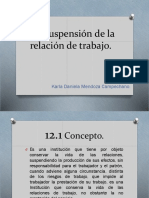 Suspensión de La Relación de Trabajo.
