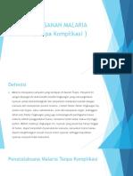 PENATALAKSANAN MALARIA (jeni).pptx