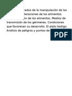 RIESGOS DERIVADOS DE LA MANIPULACIÓN DE ALIMENTOS, APPCC