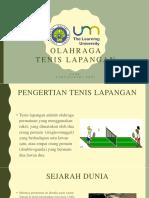 Olahraga Tenis Lapangan (PPT)