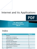 Internet and Its Applications