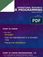 Linear Programming, Simplex Method