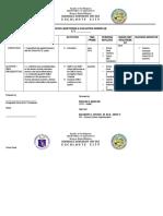 Sample m & e Workplan