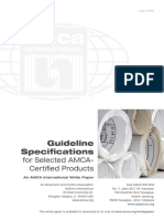 Guideline Specifications for Selected AMCA-Certified Products