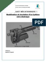 Rapport Mécatronique Mini Projet