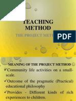 Teaching Method - Project Method