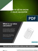 Online p Value Calculator