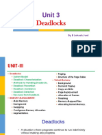 Unit 3 Operating System by B Lokesh Joel Deadlocks