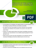 The Importance of Fire Safety Training in Our Workplace