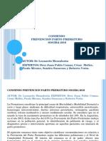 Consenso Prevencion Parto Prematuro Sogiba 2018