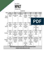 4 Week Low Impact Weight Loss Workout Plan Printable