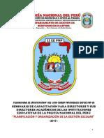 2 PLA DE CAPACITACION N° 02 - 2019 PARA DIRECTORES Y SUB DIRECTORES ACADEMICOS SET
