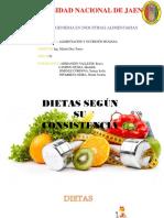 Dietas Segun Su Consistencia