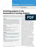 involving patients in the assesment of nurning students