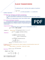 laplace transform mathematics