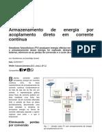 Armazenamento de energia por acoplamento direto em corrente contínua