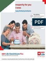 HDFC Life Classic Assure Plus Plan