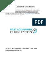 Fast Locksmith Charleston - (843) 350-1919