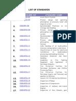 List of Standards.doc