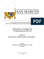 Metodos Numericos para Ecuaciones Parciales Parabolicas