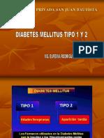 Diabetes Mellitus Tipo 1 y Tipo 2