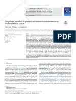 Valuation of Potential and Realized Ecosystem Services, Southern Ontario, Canada
