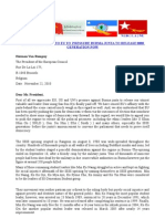 AN APPEAL LETTER TO EU TO PRESSURE BURMA JUNTA TO RELEASE888
