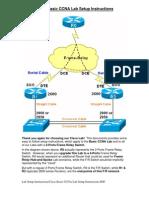 Cisco Basic CCNP Lab Setup Instructions