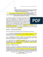 Carta compromiso  vinculación