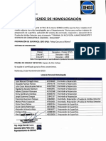 Certificado de Homologación - 01-11-2019