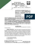 Apersonamiento Fiscalia Omision Arturo Gutierrez
