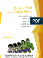 Animation, Print and Digital Media