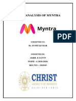 Myntra SWOT Analysis