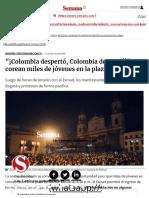 Protesta Pacífica en La Plaza de Bolívar
