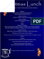 The Mug House Inn Christmas Lunch Menu