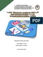 Las TIC (Tecnologías de La Información y La Comunicación)