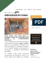 El Hormigón Estructural en Masa