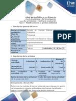 Guía de Actividades y Rúbrica de Evaluación - Fase 4 - Planificación de La Gestión Ambiental