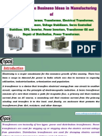 List of Profitable Business Ideas in Manufacturing of Distribution Transformer, Transformer.pdf