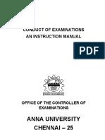 Anna University — Conduct-of-Examination-Manual