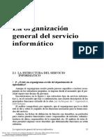 Organización general del servicio informático