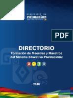 Formación de maestras y maestros del sistema plurinacional de Bolivia