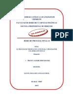 El Proceso de Terminación Anticipada y El Proceso de Por Colaboracion Eficaz
