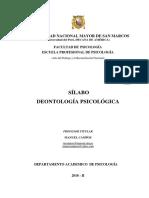 Deontología Psicológica - Dr. Manuel Campos Roldan Ciclo VIII
