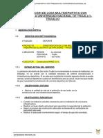 CONSTRUCCION DE LOSA MULTIDEPORTIVA CON TRIBUNAS EN LA UNIVERSIDAD NACIONAL DE TRUJILLO - TRUJILLO