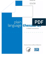 Plain Language Thesaurus for Health