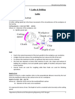 5. Lathe & Drilling (Part-II) Notes