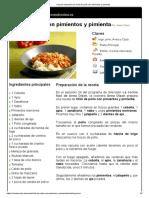 Chili de pollo con pimientos y pimienta