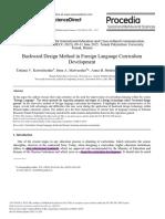 Backward Design Method in Foreign Language Curricu