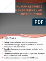 1-Introduction to HRM